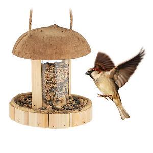 Vogelfutterspender hängend, Vogelfutterstation Holz, Vogelfutterhaus Futterampel