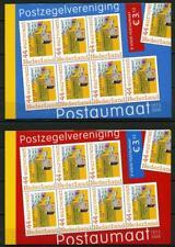 Nederland Postzegelboekjes PQ1a-b postaumaat rood en blauw cat waarde € 35