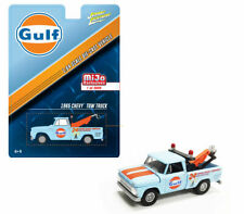 GULF 1965 Chevy Tow Truck Wrecker Diecast 1:64 Johnny Lightning 3 inch Lite Blue