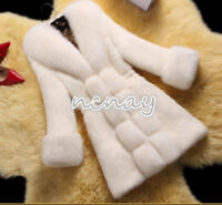 Winter Women Rabbit Fur Warm Coat Fox Collar Long Outwear Parka Jackets Overcoat