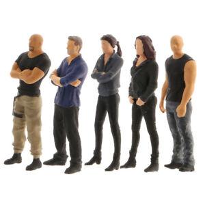 5x 1:64 S Scale Painted Miniature People Figurine Doll Toys Diorama DIY Decor