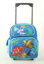 "Disney Pixar Finding NEMO Small 12""Boys Rolling Backpack Kids Rolling School Bag"