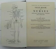 VINTAGE TEXT-BOOK FOR NURSES.ANATOMY,PHYSIOLOGY.SURGERY & MEDICINE. 1940. PROP.