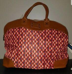 Adrienne Vittadini Huge Travel Satchel Retail $385 The Diamond Nylon Collection