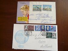 New Zealand 1964-89:  8 First Day Covers + postcard (FDC)