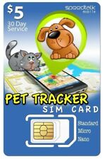 $5 SiM Card for Pet Tracker and other Tracking Devices  3-in-1  Gsm 2G 3G 4G Lte