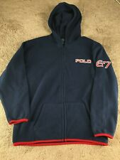 Vintage Ralph Lauren Polo Fleece Jacket Sweatshirt Hoodie Polo 67 Youth L bear