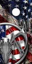 American Deer Hunt Flag Camo Cornhole Wrap Bag Toss Skin Decal Sticker Wraps