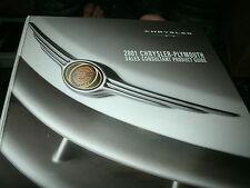 2001 CHRYSLER PT CRUISER 300M PLYMOUTH PRODUCT GUIDE DEALER ALBUM BINDER ALONE