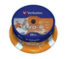 25 Verbatim Rohlinge DVD-R full printable 4,7GB 16x Spindel