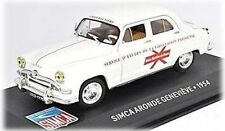 W83 Simca Aronde 1953 Genevieve 1/43 Scale White New in Display Case