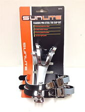STEEL CLASSIC PRO MOUNTAIN BICYCLE BIKE MTB ATB TOE CLIPS W/STRAPS 95791 NEW