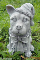 Latex Christmas dog mold plaster concrete casting holiday mould