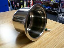 boat Stainless Steel Cup,Drink Holder, with drain, cans, bottles, marine, utv