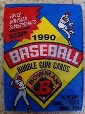 (3) 1990 Bowman Wax Packs - Unopened