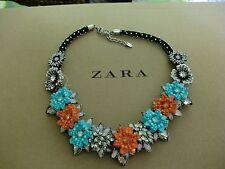 Zara Ethno mega statement Kette necklace boho top Blogger Glitzer Steine bunt