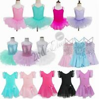 Girls Ballet Dress/Tutu Leotard Dance Gymnastics Dancewear Fancy Fairy 2-12Y