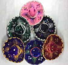 "6- Mexican MINI 5"" SOMBRERO HATS Charro Fiesta Bright Color Cinco De Mayo Party"