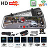 "JUNSUN A910 9.35"" Car DVR Quad-Core Rearview Mirror Video GPS WiFi Dash Cam FM"