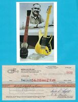 """Leo Fender 1986 Autographed Signed G&L Payroll Check w/ HP Photo """"Guitar Player"""""""