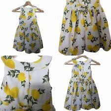 🌟Tu Clothing Girls Vintage Style Lemon Print Dress Size 4-5 Summer Sleeveless