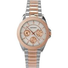 Sekonda 2005 Ladies Chrome & Rose Gold Bracelet Day Date Watch RRP£79.99