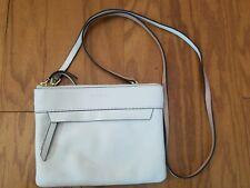 Vera Bradley Small White Pebbled Leather Crossbody Wristlet Purse Bag