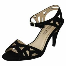 Zapatos de tacón de mujer Peep Toes de piel color principal negro