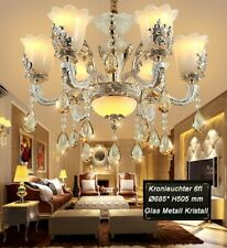 Kronleuchter Deckenleuchte  Luxus Design Kristall ,Glas, Metall E14 SS107-6fl