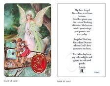 Guardian Angel Prayer Card Be At My Side Religious Verse Holy Keepsake