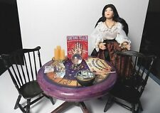 Dollhouse Miniature Halloween Witch Fortune Teller Table 1:12  1 inch scale E29