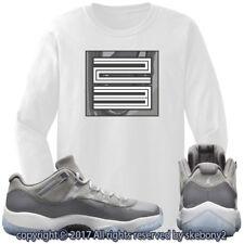 NEW CUSTOM T SHIRT Cool Grey Air Jordan 11 Lows Drop This Month JD 11-4-4-L