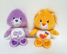 "Care Bears Cousins Brave Heart Lion & Share Bear 8"" Plush Doll Set Play Along"