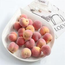 10Pcs Artificial Peach Simulation Yellow False Faux Fruit Home Kitchen Decor DIY