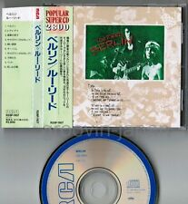 LOU REED Berlin JAPAN CD R28P-1107 w/OBI+BOOKLET '87 issue 2,800JPY DAVID BOWIE