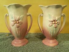 """Vintage Pair Of Hull U.S.A. Pottery Iris Vase 406 - 4 3/4"""""""