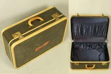 Vtg 50s OSHKOSH Faux Woven Tweed Travel Luggage Suitcase Trunk Case Decor