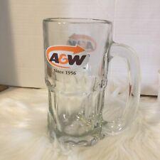"Vintage AW A&W Root Beer Soda Mug 7"" Tall Orange Arrow Heavy Glass Since 1956"