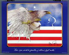 "Ramon Santiago ""Never Again"" Veteran Commemorative Embossed Poster/ Print"