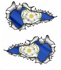 XXL LUNGO MANO COPPIA STRAPPATO Open metallo Yorkshire ROSA york bandiera