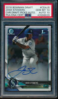 PSA 10 AUTO 10 JOSH STOWERS 1st 2018 Bowman Draft Chrome Autograph RC GEM MINT