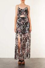 BNWT TOPSHOP PETITE GRID FLORAL MAXI DRESS UK 10