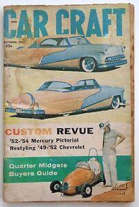Vtg Car Craft magazine December 1957 Hot Rod Drag Race Bonneville Midget
