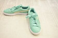 **PUMA Suede Classic Casual Shoes - Women's Size 7.5 - Mint/Grey