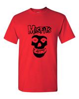 Brand New Misfits Fiend Skull Punk Rock Band T-Shirt Sizes S-2XL Red