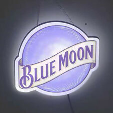 """Led Neon Light Sign Blue Moon Shopping mall sign cafe neon decoration neon 14x8"""""""