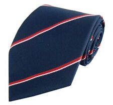 LIFETIME GUARANTEE FREE POCKET SQUARE Royal Navy Regiment Striped Tie RN Made GB