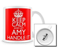 KCHI_027 Keep Calm and Let Amy handle it mug