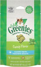 Greenies Fleline Dental Treats Catnip Flavor Cleans and Freshens Breath 2.1 oz
