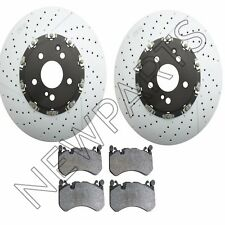 For Mercedes W204 W211 W216 R230 Set of Left & Right Disc Brake Rotors & Pads
